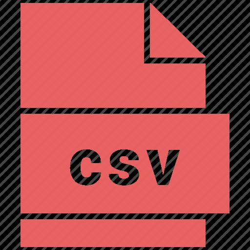 csv, file icon