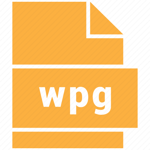 document, extension, file, format, wpg icon