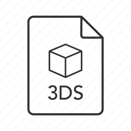 ds, ds file, file 3d, icon 3d, image file, studio scene icon