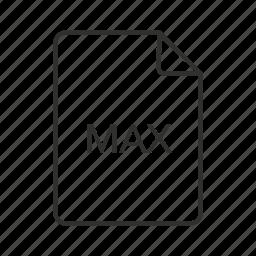 max, max file, max file icon, max icon, max scene, max scene file icon