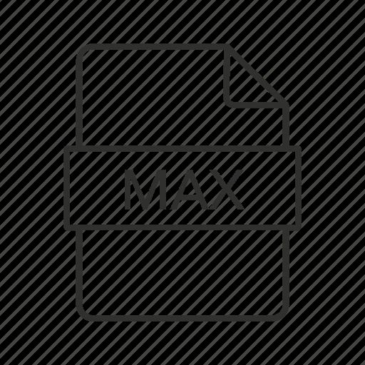 max, max file, max file icon, max icon, max icon file, max scene, max scene file icon