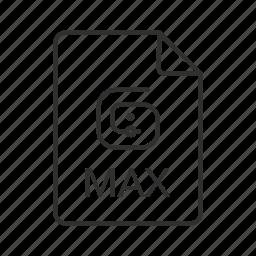 max, max file, max file icon, max icon, max scene, max scene file, scene file icon