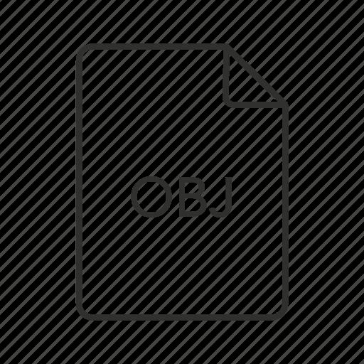 obj, obj file, obj icon, wavefront 3d, wavefront 3d object, wavefront 3d object file icon