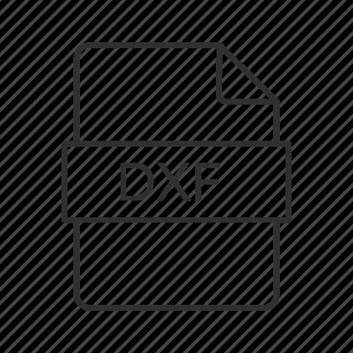 Drawing exchange format, drawing exchange format file, drawing file, drawing icon, dxf, dxf icon icon - Download on Iconfinder