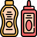bottle, cafe, food, mustard, restaurant, sauce, shop