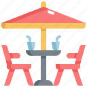 cafe, food, restaurant, seat, shop, table