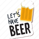 beer, café, drink, food, networking, restaurant, sticker icon