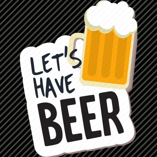 beer, café, drink, food, networking, restaurant, sticker icon