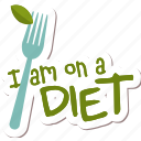 café, diet, food, healthy, networking, restaurant, sticker icon