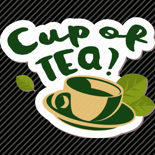 café, drink, food, networking, restaurant, sticker, tea icon