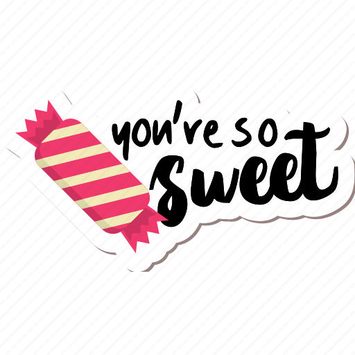 café, candy, food, networking, restaurant, sticker, sweet icon