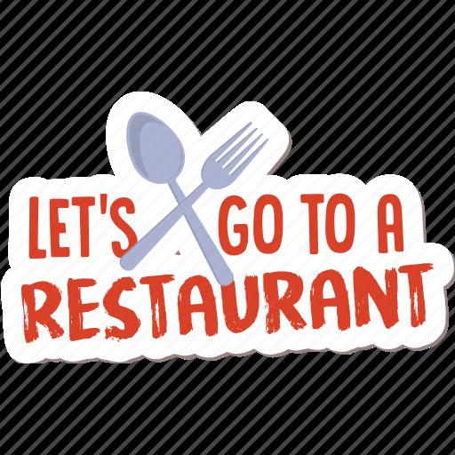 café, drink, food, menu, networking, restaurant, sticker icon