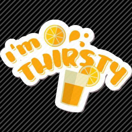 café, drink, fruit, juice, networking, restaurant, sticker icon