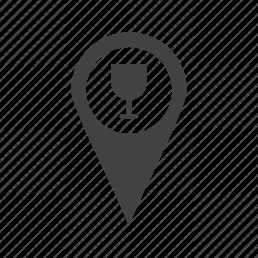 app, bar, cafe, gps, location, mark, tag icon