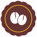 bobbies, cafe, coffee, label, round, sticker icon