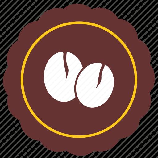 bobbies, cafe, coffee, label, round, sticker icon