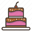 bakery, bread, cake, cupcake, dessert, pastry, sweet icon