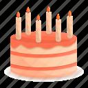 birthday, cake, candle, party, retro, wedding