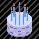 baby, birthday, cake, cartoon, isometric, kid, party