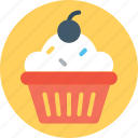 frozen food, gelato, ice cream, ice cream cup, sundae icon
