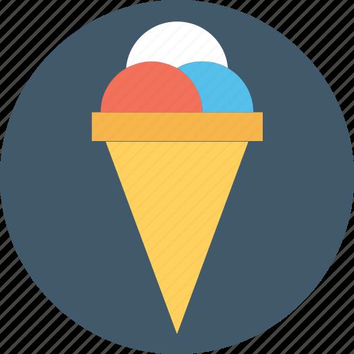 frozen food, gelato, ice cone, ice cream, sundae icon