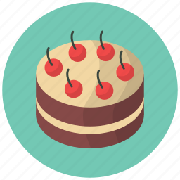 cake, cherry, confection, dessert, food, fruit, pie icon