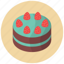 cake, confection, dessert, food, fruit, pie, strawberry icon