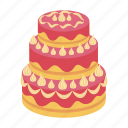 birthday, cake, celebration, dessert, food, sweetness, wedding icon