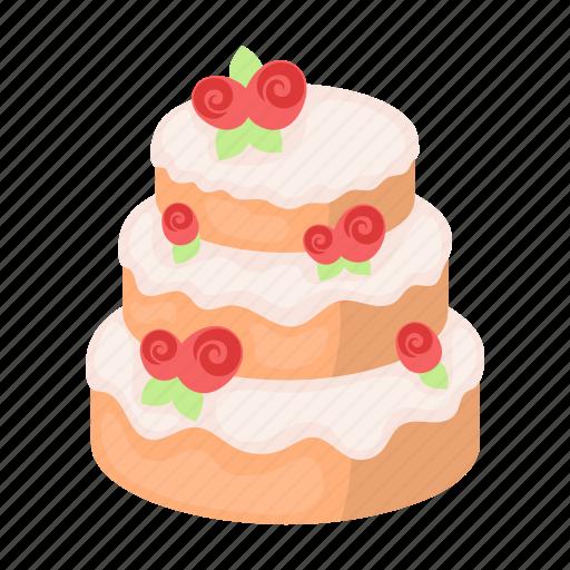 birthday, cake, celebration, dessert, food, sweetness, wedding icon