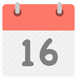 calendar, event, hovytech, one, schedule, six, sixteen icon