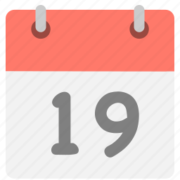 calendar, event, hovytech, nine, nineteen, one, schedule icon
