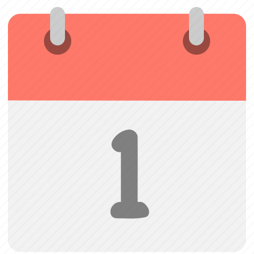 calendar, event, first, hovytech, one, schedule, time icon