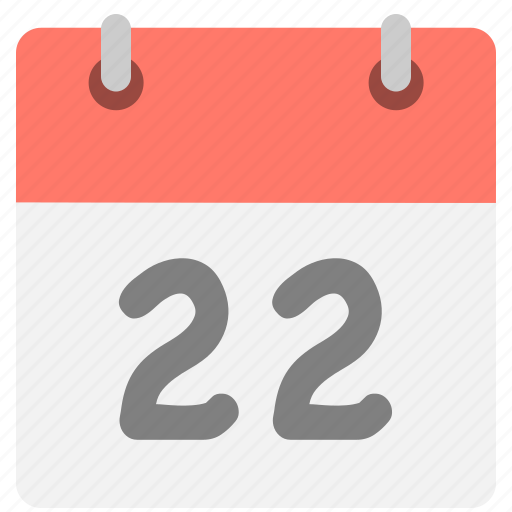 calendar, event, hovytech, schedule, time, twenty-two, two icon