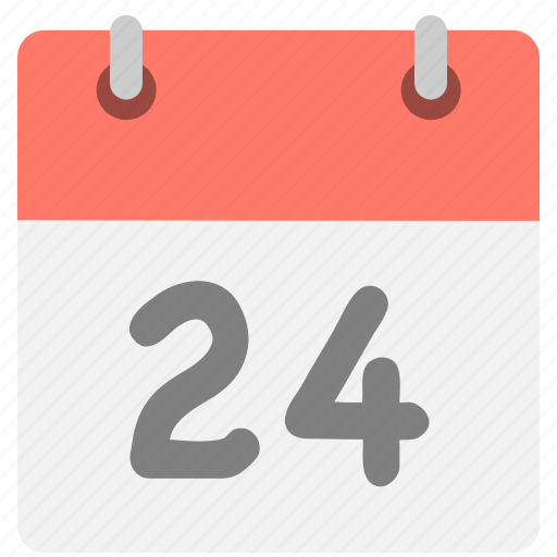 calendar, event, four, hovytech, schedule, twenty-four, two icon