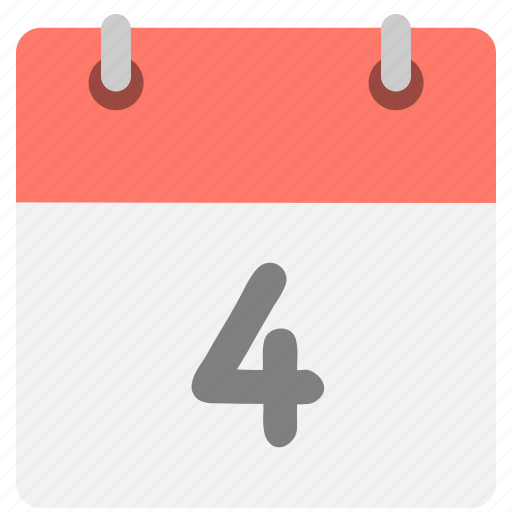 calendar, event, four, fourth, hovytech, schedule, time icon