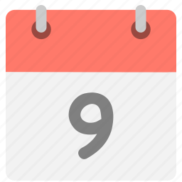 calendar, event, hovytech, nine, ninth, schedule, time icon