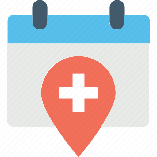 hospital schedule, hospital timings, medical appointments, medical holidays, pharmacy timings icon