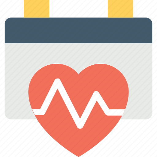 action plan, cardiac calendar, cardiac nursing calendar, heart health, heartbeat calendar icon