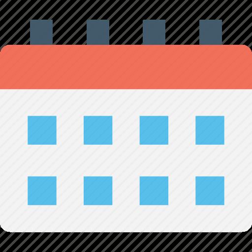 calendar, timetable, weekly calendar, work plan, work schedule icon