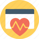 action plan, cardiac calendar, cardiac nursing calendar, heart health, heartbeat calendar icon