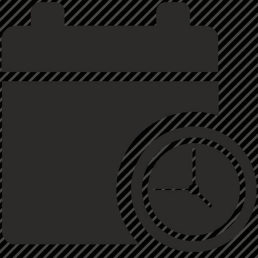calendar, date, settings, time icon