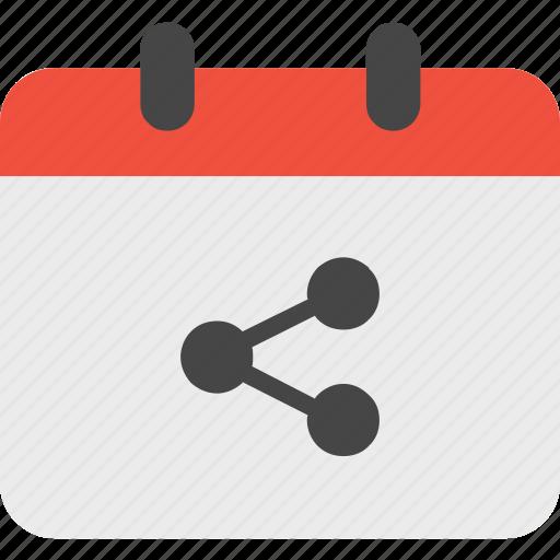 calendar, event, share icon