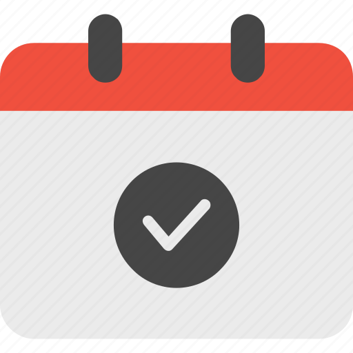 approved, calendar, event icon