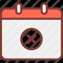 calendar, event, remove icon