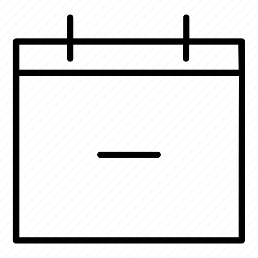 day, delete calendar, minus, today, weekly calendar icon
