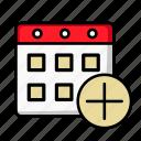 add, appointment, calendar, date, event, new, schedule