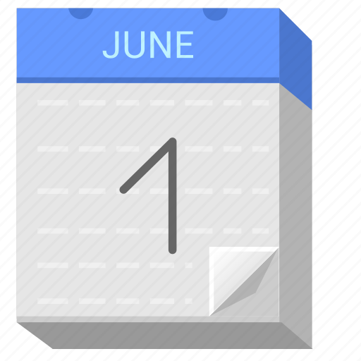 calendar, date, day, first, june icon