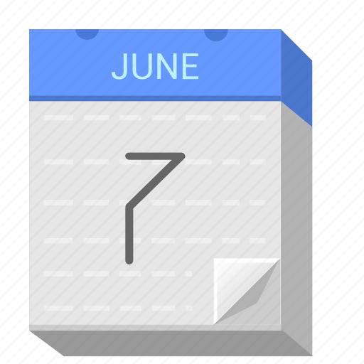 calendar, date, june, seven icon