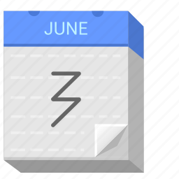 calendar, date, day, june, third, three icon