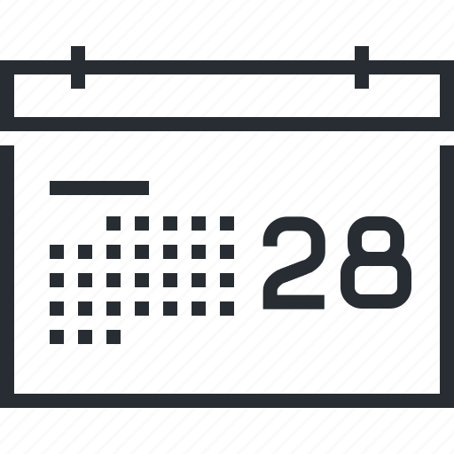 calendar, events, news, pixel icon, schedule, thin line, time and date icon